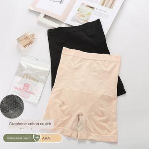 HqOJm quatro cores grafeno calças nuas Shaping boxers boxer de cintura alta barriga boxer pós-parto-moldar o corpo calças mulheres de levantamento de hip-amarrado barriga'