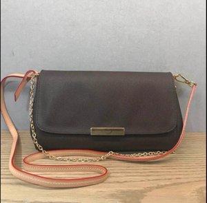 Bolsa de la calidad de Hight cuero genuino bolso favorito de las mujeres del hombro 40718 bolso favorito de cuero real mm