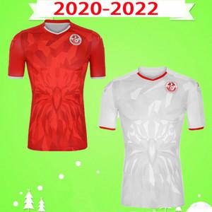 جودة التايلاندية 20 21 تونس لكرة القدم الفانيلة 2020 2021 موحد Msakni Khazri السليطي BEN YOUSSE HAMZA المنزل بعيدا قميص كرة القدم مايوه دي القدم