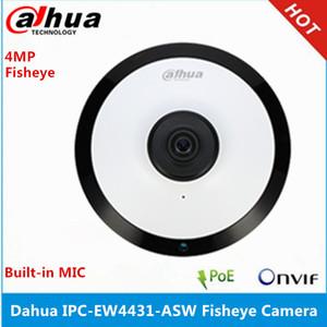 IPC-EW4431-ASW 4MP Panorama POE WIFI 180 Fisheye IP Camera built-in MIC & SD Card Slot & Audio Alarm Interface