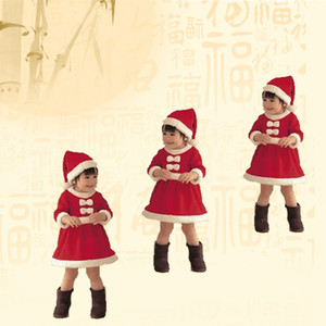 Autumn and winter new boys and girls Christmas clothing wholesale Santa Claus dress Festival children's wear party dress AAE1794
