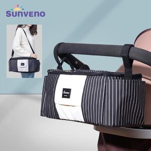 Sunveno Universal-Kinderwagen-Windel-Beutel-Organisator für Kinderwagen Wickeltasche mit Thermobecher-Halter