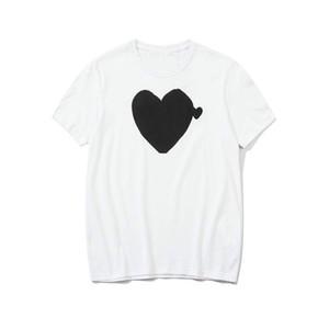 New T Verão T para homens Moda Mens Tops de manga curta com coração Impresso Crew Neck Tops Tees Roupa Haute Couture