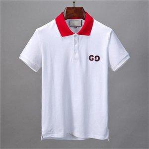 Die New Italien Marke Designer-Polohemd Luxus-T-Shirts Schlange Biene Blumenstickerei mens polos High street GG Art und Weise Streifendruck Polo