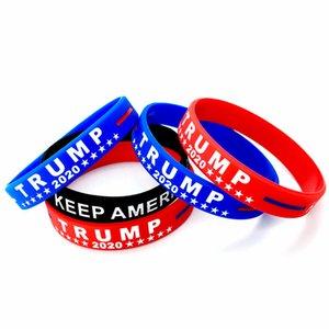 Amerika Başkanı Seçim Donald Trump Keep Amerika Büyük Silikon Bilek Bilezikler Kiti Unisex parti lehine OOA9026