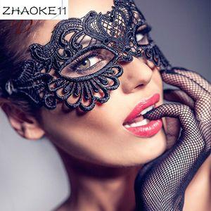 Для Comeondear продукт секса Женщины Black Lace Eye Mask выдалбливают Halloween Cosplay Sex Маска Blindfold Блиндер BDSM 1PC CA80608