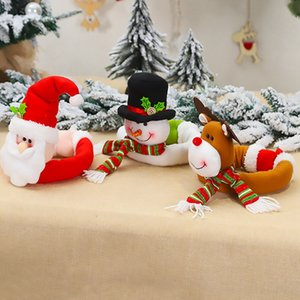 15 Style Curtain Buckle Tieback Santa Snowman Curtain Tiebacks Holdback Fastener Buckle Clamp Decorations Christmas Ornaments GGE1932