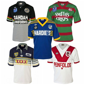 Top 1979 1989 1991 1995 de rugby retro conejo pantera jerseys Knight Parramatta George West Melbourne tigre Rugby League camisas camiseta retro