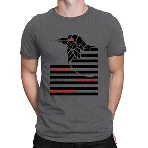 Raven футболки джентльмены Building Tee топ Существо тенниска для мужчин вокруг шеи картинки Интересный Anlarach