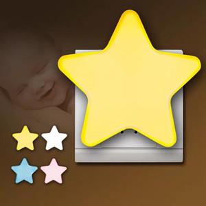 Оптовой Light Sensor Control Star LED Night Light Туалет Aisle Лестница ночник Спальня ночники для детей Детского Пожилого Sleeping