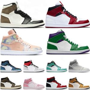 Con calcetín Retro 1 Jumpman 1 1s zapatos para mujer para hombre de baloncesto de la Alto Bajo entrenadores deportivos zapatillas de deporte