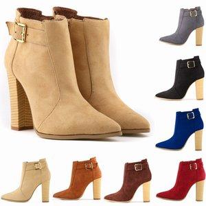 Bling Bling Sexy Boots Scarpe Autunno Inverno di lusso della calzatura Scarpette da donna 2020 Tacchi alti Zipper Boots-donne