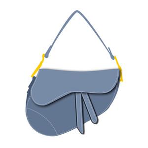 Couro genuíno Bolsas Mulheres saco no ombro Top Designer de luxo bolsas com bordados Cross-corpo Saddle Handbag alta qualidade saco