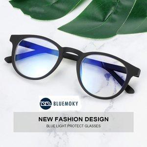 Bluemoky Yuvarlak Koruma Blokaj Radyasyon Erkekler Kadınlar Için Anti Gözlük Işık Gözlük Oyun Gözlük Bilgisayar Retro Göz Mavi NGFDX