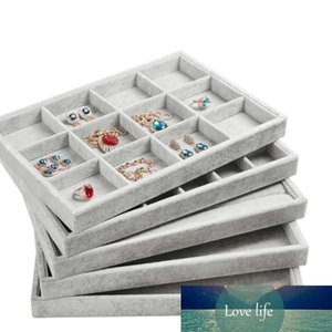 Gray high-grade Velvet Jewelry Display Tray Ring Holder Necklace Bracelet Tray Earring Display Stand