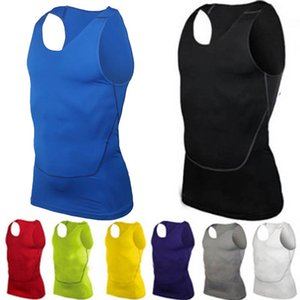 Men's Tight-fitting Sports Compression Vest Fast-dry Basketball Training Tank Top Fitness Clothing Sportswear Sleeveless