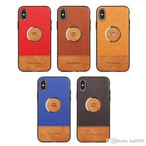 Cuero de la PU cubierta de la caja del aro de metal para el iPhone 11 11Pro 11Pro Caso Calidad MAX 6 6plus 7 8 7plus 8Plus Top X para Iphone