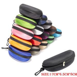 Ткань Защита Sunglass Box Ткань Оксфорд черный цвет Сжатые очки чехол многоцветный Дополнительный Oxford Sunglass Protection Box