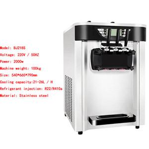 Certificato CE Ice Cream Machine 2 + 1 Mixed Flavors Ice Cream Fare mini morbido servire macchina del gelato