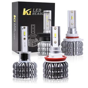 2PCS K1 Car Led Headlight H1 H3 H4 H7 H11 H13 9004 9005 9006 9007 881 Auto Fog Lamp 30W 3000LM Automobile Bulb White 6000K