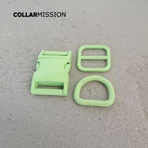 Розничная торговля (металлическая пряжка + регулировки пряжки + D кольцо / комплект) DIY ошейник зеленый 20мм тканая швейное аксессуар спрей краска пряжки набор
