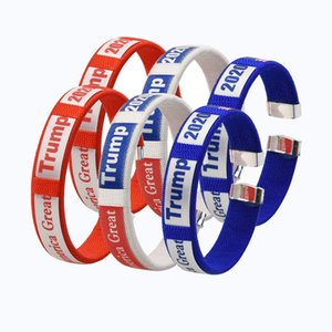 Trump Bracelet 2020 American Election Supplies Keep America Great Trump Wristband Weave Wrist Band Party Supplies OOA9165