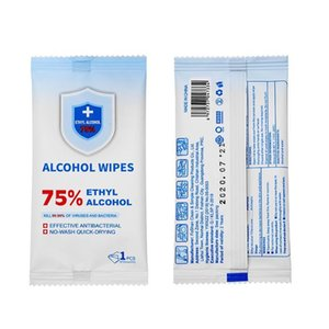 75% alcohol disinfectant wipe one piece disposable disposable portable wipes skin cleaning bacteria disinfection home office gym wipes