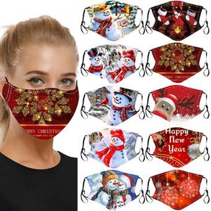 DHL 2021 Рождественские красный Дизайнерские маски для мужчин и женщин пылезащитные хлопка маски напечатаны праздничные рождественские маски