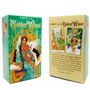 Tarocchi del Golden Wheel 78 Carte Deck Russian Edition Inspired By Fairy Tales Mila Losenko Aeclectic Crisp Divinazione Gioco bbyUTY