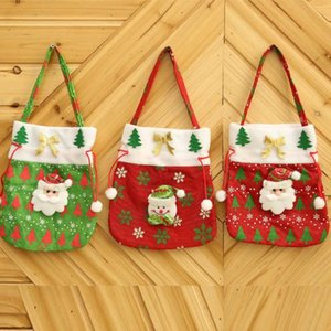 Christmas gift bag creative festive supplies decals new green red handbag cloth candy bag decoration supplies