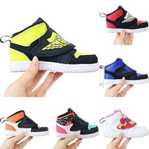 2020 Vintage-1 OG Bred scherzt hohe Skateboard-Schuhe Original-1s Bred Kind-rutschfester Gummi Integriertes Zoom-Air-athletische Schuhe