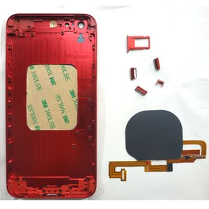 شاحن لاسلكي استقبال المرن للحصول على 7 7Plus مثل الهاتف 8 أسلوب زجاج ظهر معدن استبدال الإسكان الإطار لفون 6G 6S 6Plus