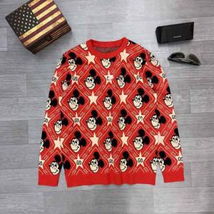 Automne / Hiver européens et américains pour hommes Sweat-shirt ample Sweater pur coton à manches longues Medusa sport Pull