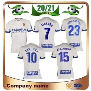 2020 الموحدة ريال سرقسطة # 23 شينجي كاغاوا كرة القدم جيرسي 20/21 الرئيسية 21 زباتير كرة القدم قميص خافي ROS بومبو MIGUEL ALEJANDRO كرة القدم