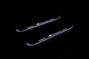 2X مخصصة LED تشغيل سيارة اكسسوارات الديكور عتبة الباب أبلى ضوء لوحة ترحيب دواسة لسيارات BMW E46 1998-2005
