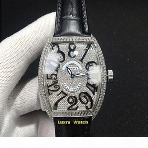 HORAS New alta qualidade LOUCOS 8880 CH diamante completa Dial Miyota Automatic Mens Watch Caso de prata diamante de couro Strap Esporte Designer relógios