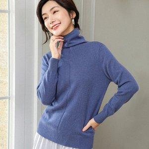 ALKMENE pile of high collar cashmere sweater women's fashion temperament warm hooded short bottom sweater 2019 autumn and winter tvME#