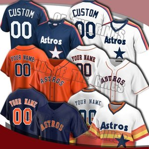 Houston Astros Personalizado George Springer Jersey Alex Bregman Jerseys Jose Altuve Justin Verlander Jersey Jeff Bagwell Nolan Ryan Baseball