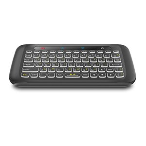 H20 2.4GHz Wireless Mini Keyboard with Backlight Touchpad Air mouse IR Leaning Remote control for Andorid PC