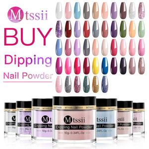 Mtssii Diary 10g Nail Dipping Powder French Nail Art Polish Holographic Glitter Gradient Chrome Pigment Dipping Powder Art