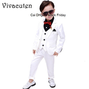 Wedding Suit For Boys Children Prince Stage Performance Formal Suit Birthday Flower Kids School Suit Ceremony Chorus Costume