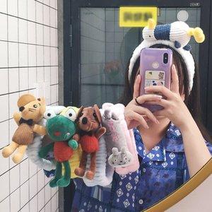 k7xzk TikTok aynı Karikatür Doll Koreli süper sevimli ins kız kalp yıkama saç Doll saç bandı çevrimiçi ünlü saç bandı saç bandı