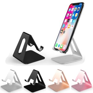Desktop Lazy Stand Metal Aluminium Tablet iPad Universal Desk Mobile Phone Holder Mount for iPhone 11 Pro Max iPhone 12