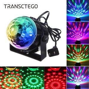 Kafa Led Rbg Dj Sound Hareketli Mini Disco Topu Işık Sahne Lambası Strobe Par Işık Ev Dance Bar Düğün Göster Parti Lambası Aktif