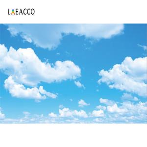 Fotografia Scenic Laeacco céu azul nebuloso Festa Wallpaper Home Decor bebê Natural Fundos Foto cenários para Photo Studio