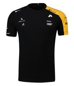 F1 جديد المشجعين سلسلة رينو انحدار طويل الأكمام دراجة نارية الملابس سباق تنفس التجفيف السريع أعلى الدراجة الجبلية في الهواء الطلق وركوب الدراجات تي شيرت