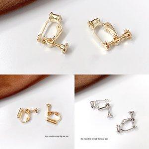 anillos Converter convertidor de bricolaje ningún agujero DIY pendientes materiales clip de oreja cambio espiral invisible clip de oreja