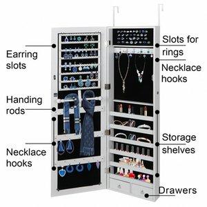 Parede Porta Montada Jewelry Cabinet Armário Grande Jewelry Box Organizer Espelho ZCmB #