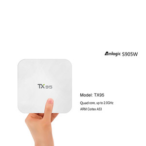 TX95 Amlogic S905W Android 7.1 TV BOX Quad Core 2.4 5Ghz WiFi BT 4.1 H.265 HD 4K Streaming