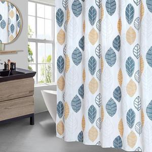 Stick Figure Feuilles rideau de douche salle de bains douche en polyester imperméable Rideaux d'impression Rideau pour salle de bains douche avec crochets